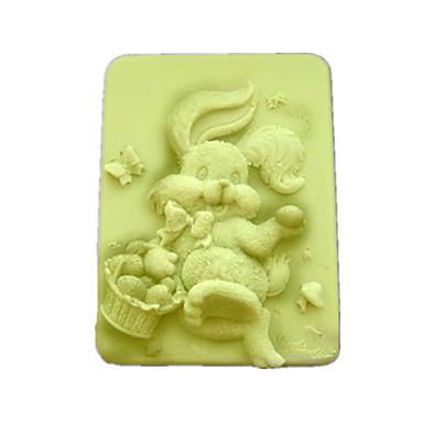 Iepure în formă Coaceți Mold, W9.5cm x L7.6cm x H3.1cm