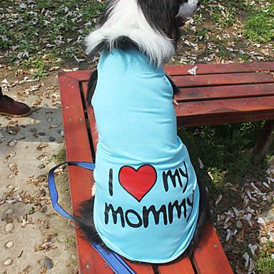 رخيصةأون ملابس وإكسسوارات الكلاب-قط كلب T-skjorte ملابس الكلاب برتقالي أزرق زهري كوستيوم كلب كبير قطن مطبوعة بأحرف وأرقام موضة XXXL XXXXL 5XL 6XL 7XL 8XL