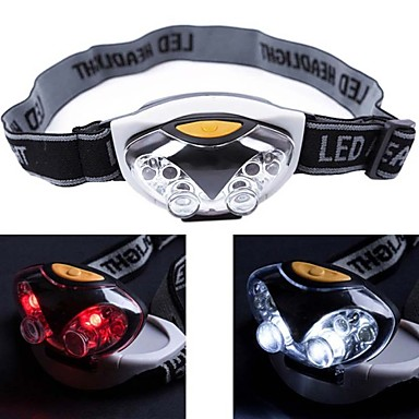 cheap Headlamps-Headlamps Headlight Waterproof Mini 1200 lm LED 6 Emitters 3 Mode 4 pcs white LED Lights 2 pcs red LED Lights Waterproof Mini Portable Small Camping / Hiking / Caving Cycling / Bike Hunting