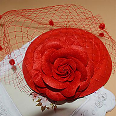ieftine Bijuterii de Păr-Pentru femei Agrafe de păr Fascinators Στεφάνια Pentru Nuntă Petrecere Ocazie specială Dantelă Rosu Alb Negru