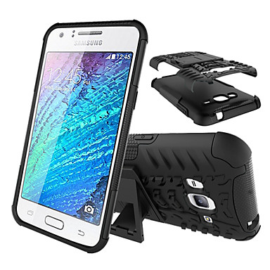 online retailer c6661 7bdcf [$7.99] 2 in 1 Shock Proof Armor tyre Cover Cases with Stand for Samsung  Galaxy J1 Ace/J2/J3(Assorted Color)