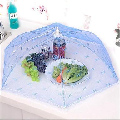 olcso Konyhai tárolás-konyha party asztal élelmiszer tárolására fedél összecsukható esernyő háló csipke fém keret véletlenszerű színt