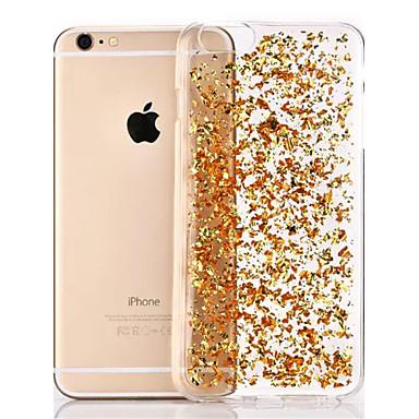 Недорогие Кейсы для iPhone 6 Plus-Кейс для Назначение Apple iPhone 8 Pluss / iPhone 8 / iPhone 6s Plus Прозрачный Кейс на заднюю панель Сияние и блеск Мягкий ТПУ