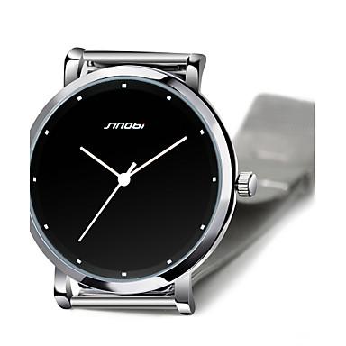 رخيصةأون ساعات الرجال-SINOBI رجالي ساعة المعصم كوارتز ستانلس ستيل فضة 30 m مقاوم للماء مماثل أسود سنتان عمر البطارية