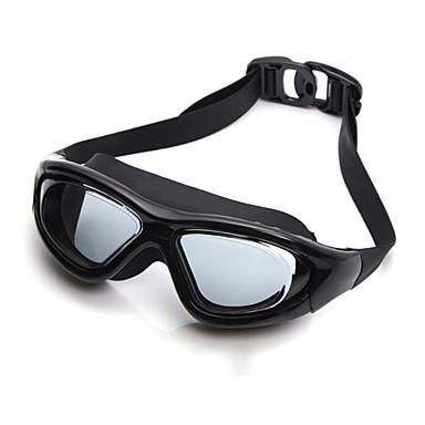 olcso Úszószemüvegek-Úszás Goggles Vízálló Páramentesítő Állítható méret UV-védő Törhetetlen Tükrözött Silica Gel PC Fekete Ezüst Kék Átlátszó