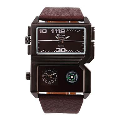 ieftine Ceasuri Bărbați-Bărbați Ceas de Mână Quartz Piele Negru / Maro Zone Duale de Timp Ceas Casual Analog Clasic - Alb Negru Maro Doi ani Durată de Viaţă Baterie / Oțel inoxidabil / SOXEY SR626SW