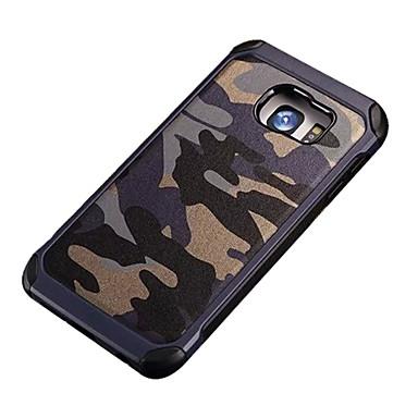voordelige Galaxy S-serie hoesjes / covers-hoesje Voor Samsung Galaxy S7 Active / S7 plus / S7 edge Schokbestendig / Patroon Achterkant Camouflage Kleur PC