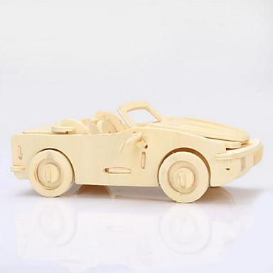 olcso Fejtörők-Fából készült építőjátékok Wood Model Autó 3D Fa Ajándék