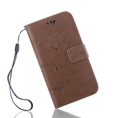 Недорогие Чехлы и кейсы для Galaxy S4 Mini-Кейс для Назначение SSamsung Galaxy S7 Active / S7 plus / S7 edge plus Кошелек / Бумажник для карт / со стендом Чехол Бабочка Кожа PU