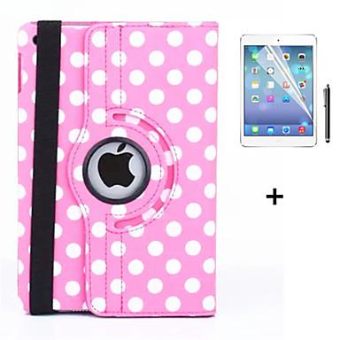 رخيصةأون أغطية أيباد-غطاء من أجل Apple iPad 4/3/2 دوران360ْ / مع حامل / نوم / استيقاظ أتوماتيكي غطاء كامل للجسم قرميدة جلد PU