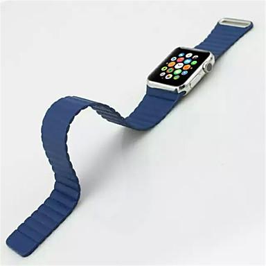 זול רצועות לApple Watch-צפו בנד ל סדרת Apple Watch 5/4/3/2/1 Apple לולאה מעור עור אמיתי רצועת יד לספורט