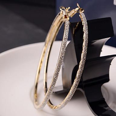 ieftine Cercei-Pentru femei Cercei Rotunzi Machete femei Modă Elegant Bling bling Italiană De Fiecare Zi cercei Bijuterii Auriu / Argintiu Pentru Nuntă Petrecere Zilnic Casual