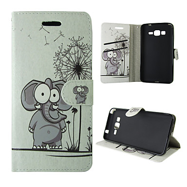 cheap Galaxy A3 Cases / Covers-Case For Samsung Galaxy A5(2016) / A3(2016) / A5 Card Holder / with Stand / Flip Full Body Cases Elephant PU Leather