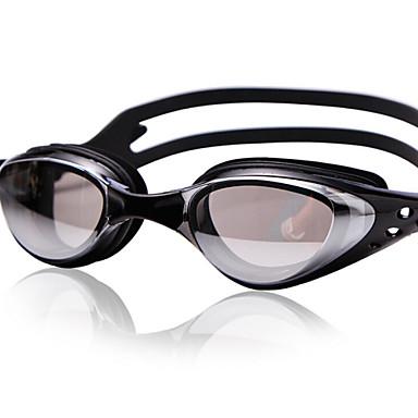 olcso Úszószemüvegek-Úszás Goggles Vízálló Páramentesítő Állítható méret UV-védő Tükrözött Egy méret Silica Gel PC Piros Fekete Kék Szürke