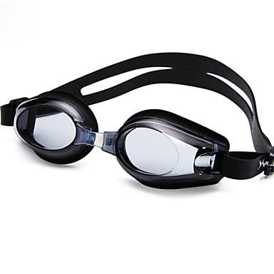 رخيصةأون نظارات السباحة-نظارات السباحة مقاوم للماء مكافح الضباب حجم قابل للتعديل مضاد للأشعة فوق البنفسجية لقصر النظر وصفة جل السيليكا للعد التنازلي أسود أزرق شفاف