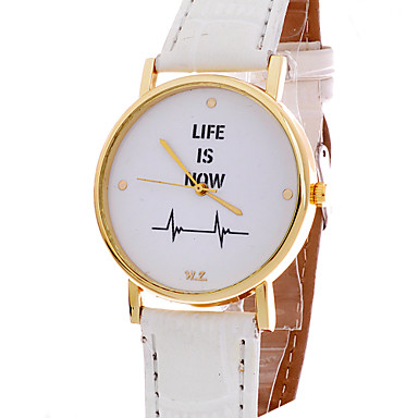 yazole watch leather pu waterproof luminous pointer p life watches quartz band