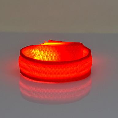 رخيصةأون اكسسوارات الرياضة-حزام عاكس / عاكسات السلامة / LEDحزام يد للركض ليلة الرؤية ABS إلى أخضر - أحمر