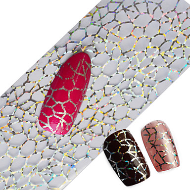 100x4cm najnovije glitter nail art puni savjeta oblozi DIY paučina seksi noktiju folije prijenos nokte ljepilo naljepnica za nokte