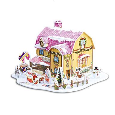 olcso Ajándékok-A karácsonyi ajándék intelligens ház édes házikó 3d rejtvényeket (34pcs)