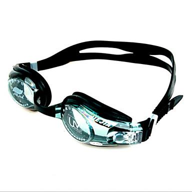 olcso Úszószemüvegek-Úszás Goggles Vízálló Páramentesítő Állítható méret UV-védő Rövidlátás Vényköteles Silica Gel PC Fekete Átlátszó