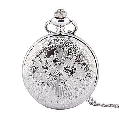 رخيصةأون ساعات الرجال-رجالي ساعة جيب كوارتز فضة نقش جوفاء مماثل سحر