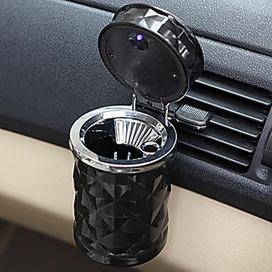 Недорогие Органайзеры для транспортных средств-светодиодный свет автомобиля пепельница огнеупорный материал легко чистить автомобиль пепельница подходит большинство авто держатель чашки автомобиля автомобильные аксессуары