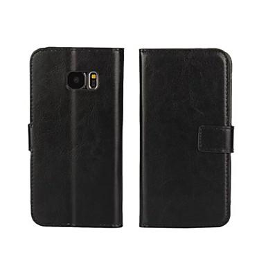 Недорогие Чехлы и кейсы для Galaxy S4 Mini-Кейс для Назначение SSamsung Galaxy S7 edge / S7 / S6 edge Кошелек / Бумажник для карт / со стендом Чехол Однотонный Кожа PU