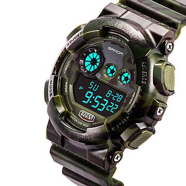 04c38d6904b Masculino Relógio Esportivo Relógio de Moda Relógio de Pulso Quartzo  Quartzo Japonês Impermeável Velocímetro Cronômetro PU BandaVermelho de  4977589 2019 por ...