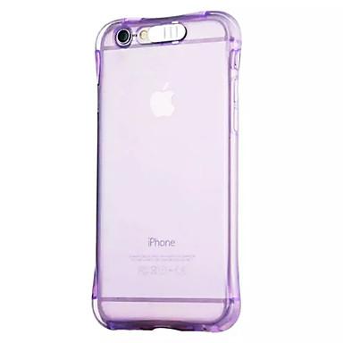 voordelige iPhone 6 hoesjes-hoesje Voor Apple iPhone 6s Plus / iPhone 6s / iPhone 6 Plus LED-knipperlicht / Transparant Achterkant Effen Zacht TPU