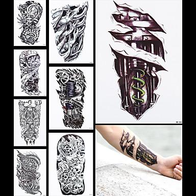 719 8pcs Fałszywy Tatuaż Smoka Maszyna Noga Rękaw Kobiety Mężczyźni Ciało Z Powrotem Sztuka Tatuaż Tymczasowy Wodoodporną Naklejkę