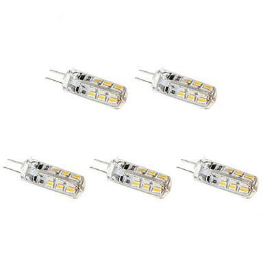 ywxlight® 5pcs g4 3w 24 led led bi-pin lumina cald alb rece rece alb natural alb condus bec bec de candelabru dc 12v