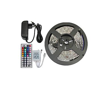 Benzi flexibile cu led 5m / seturi de lumini / lumini cu bandă rgb 150 leduri 5050 smd 10mm telecomanda rgb / rc / cuttable / dimmable 12 v / linkable / autoadeziv / schimbătoare de culori / ip44