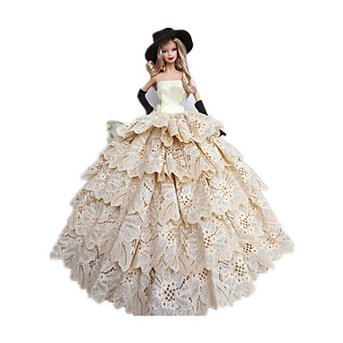 Princesa Fantasias Para Boneca Barbie Poliéster Vestido Luvas Chapéu Para  Menina de Boneca de Brinquedo de 1338315 2019 por €9.59 e5afd6d8f57