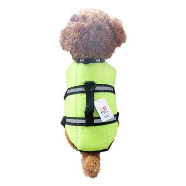 رخيصةأون ملابس وإكسسوارات الكلاب-كلب سترة سترة نجاة ملابس الكلاب مقاوم للماء برتقالي أخضر كوستيوم نايلون مقاومة الماء XXS XS S M