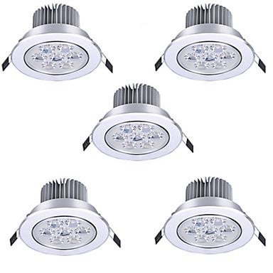 رخيصةأون LED وإضاءة-HRY 5pcs 7 W LED ضوء سبوت LED Ceilling Light Recessed Downlight 7 الخرز LED طاقة عالية LED ديكور أبيض دافئ أبيض كول 175-265 V / بنفايات / 90