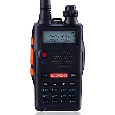 BAOFENG UV-5R5TH-BLK Handheld / Digital Voice Prompt / Dual Band / Dual Display 1.5KM-3KM 1.5KM-3KM 128 1800mAh 5W/1W Walkie Talkie Two Way Radio / 136-174MHz / 400-520MHz / FM Radio / Dual Standby