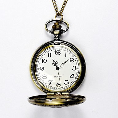 رخيصةأون ساعات الرجال-رجالي ساعة جيب كوارتز نمط فني فينتاج ذهبي نقش جوفاء مماثل أنيقة & حديثة