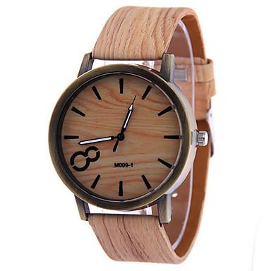 e11a81367434 Hombre Reloj de Pulsera Cuarzo Reloj Casual Piel Banda Analógico Minimalista  Madera Negro   Blanco - Marrón Un año Vida de la Batería   Tianqiu 377  4992826 ...