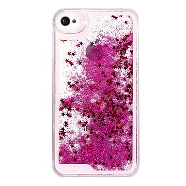 voordelige iPhone 5 hoesjes-hoesje Voor iPhone 5 / Apple / iPhone X iPhone X / iPhone 8 Plus / iPhone 8 Stromende vloeistof Achterkant Glitterglans Hard PC