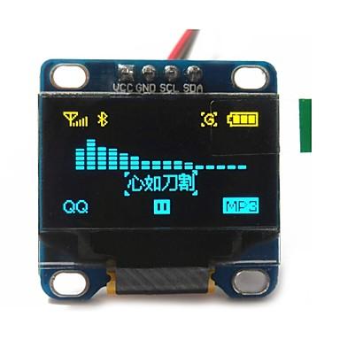 """olcso Arduino tartozékok-0,96 """"-es sárga és kék i2c IIC soros 128x64 OLED LCD OLED vezetett modul Arduino kijelző 51 msp420 stim32 scr"""