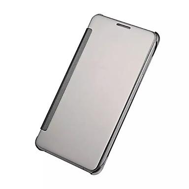 رخيصةأون حافظات / جرابات هواتف جالكسي A-غطاء من أجل Samsung Galaxy A9(2016) / A7(2016) / A5(2016) تصفيح / مرآة / قلب غطاء كامل للجسم لون سادة الكمبيوتر الشخصي