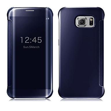 رخيصةأون حافظات / جرابات هواتف جالكسي S-غطاء من أجل Samsung Galaxy S9 / S9 Plus / S8 Plus نوم / استيقاظ أتوماتيكي / تصفيح / مرآة غطاء كامل للجسم لون سادة الكمبيوتر الشخصي / شفاف