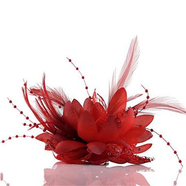 ieftine Bijuterii de Păr-Cristal / Pană / Material Textil Diademe / Palarioare / Flori cu 1 Nuntă / Ocazie specială / Party / Seara Diadema