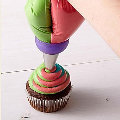 رخيصةأون أدوات الفرن-1PC الفولاذ المقاوم للصدأ كعكة بسكويت فطيرة أداة تزيين أدوات خبز