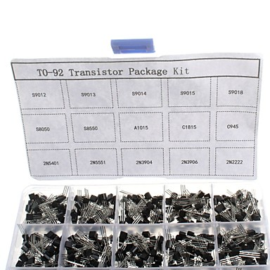 olcso Solar Controllers-750pcs 15kindsx50pcs to-92 tranzisztor kit + retail box (a1015, c945, c1815, s8050, s9012,2n2222 ...)