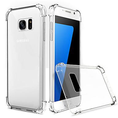 Θήκη Za Samsung Galaxy S7 edge / S7 Otporno na trešnju / Prozirno Stražnja maska Jednobojni TPU