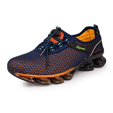 hesapli Ayakkabılar ve Çantalar-Erkek Ayakkabı Tül Bahar / Sonbahar Rahat Atletik Ayakkabılar Koşu Atletik / Günlük için Bağcıklı Koyu Mavi / Navy Mavi