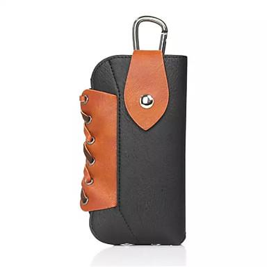 Недорогие Универсальные чехлы и сумочки-Кейс для Назначение IPhone 7 / iPhone 7 Plus / iPhone 6s Plus Кошелек Мешочек Однотонный Мягкий Кожа PU