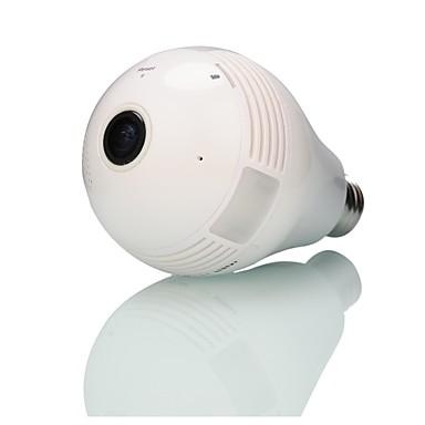 رخيصةأون كاميرات المراقبة IP-قوية المدمج في بطاقة ذاكرة 32bp 960p المنزلية اللاسلكية (wifi) مراقبة لمبة نوع كاميرا 360 درجة فيش بانورامية
