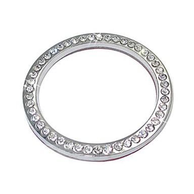 Недорогие Органайзеры для транспортных средств-ziqiao авто аксессуары для украшения автомобиля кнопка переключатель кнопка кольцо с бриллиантом